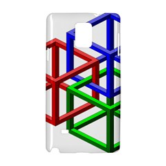 Impossible Cubes Red Green Blue Samsung Galaxy Note 4 Hardshell Case by Mariart