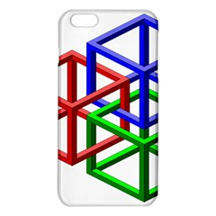 Impossible Cubes Red Green Blue Iphone 6 Plus/6s Plus Tpu Case by Mariart