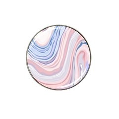 Marble Abstract Texture With Soft Pastels Colors Blue Pink Grey Hat Clip Ball Marker (4 Pack) by Mariart