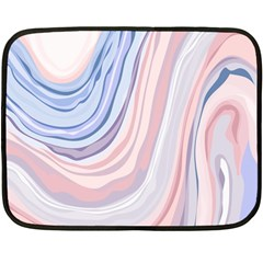 Marble Abstract Texture With Soft Pastels Colors Blue Pink Grey Fleece Blanket (mini) by Mariart