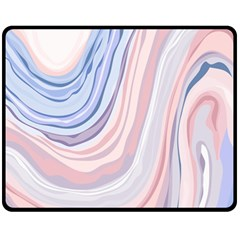 Marble Abstract Texture With Soft Pastels Colors Blue Pink Grey Fleece Blanket (medium)  by Mariart