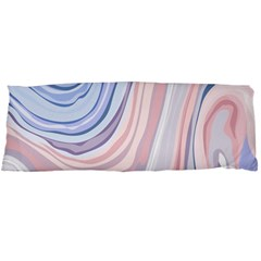 Marble Abstract Texture With Soft Pastels Colors Blue Pink Grey Body Pillow Case (dakimakura) by Mariart