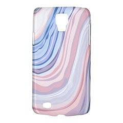 Marble Abstract Texture With Soft Pastels Colors Blue Pink Grey Galaxy S4 Active by Mariart