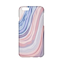 Marble Abstract Texture With Soft Pastels Colors Blue Pink Grey Apple Iphone 6/6s Hardshell Case by Mariart