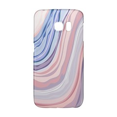 Marble Abstract Texture With Soft Pastels Colors Blue Pink Grey Galaxy S6 Edge by Mariart