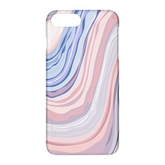 Marble Abstract Texture With Soft Pastels Colors Blue Pink Grey Apple Iphone 7 Plus Hardshell Case by Mariart