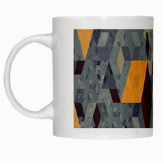 Apophysis Isometric Tessellation Orange Cube Fractal Triangle White Mugs by Mariart