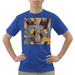 Apophysis Isometric Tessellation Orange Cube Fractal Triangle Dark T Shirt