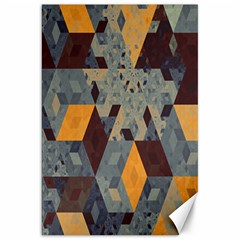Apophysis Isometric Tessellation Orange Cube Fractal Triangle Canvas 20  X 30   by Mariart