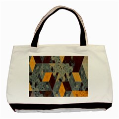 Apophysis Isometric Tessellation Orange Cube Fractal Triangle Basic Tote Bag (two Sides) by Mariart