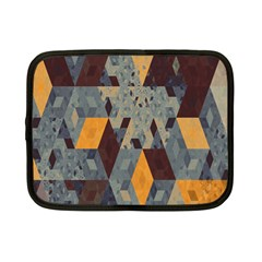 Apophysis Isometric Tessellation Orange Cube Fractal Triangle Netbook Case (small)  by Mariart