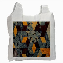 Apophysis Isometric Tessellation Orange Cube Fractal Triangle Recycle Bag (two Side)  by Mariart