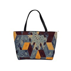 Apophysis Isometric Tessellation Orange Cube Fractal Triangle Shoulder Handbags by Mariart