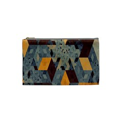 Apophysis Isometric Tessellation Orange Cube Fractal Triangle Cosmetic Bag (small)  by Mariart