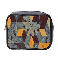 Apophysis Isometric Tessellation Orange Cube Fractal Triangle Mini Toiletries Bag 2 Side by Mariart