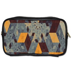 Apophysis Isometric Tessellation Orange Cube Fractal Triangle Toiletries Bags 2 Side by Mariart
