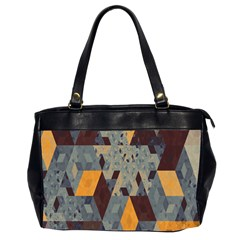 Apophysis Isometric Tessellation Orange Cube Fractal Triangle Office Handbags (2 Sides)  by Mariart