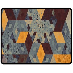 Apophysis Isometric Tessellation Orange Cube Fractal Triangle Fleece Blanket (medium)  by Mariart