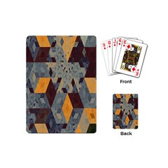 Apophysis Isometric Tessellation Orange Cube Fractal Triangle Playing Cards (mini)  by Mariart