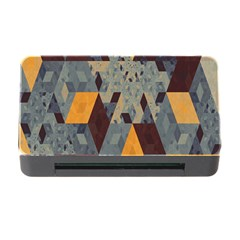Apophysis Isometric Tessellation Orange Cube Fractal Triangle Memory Card Reader With Cf by Mariart