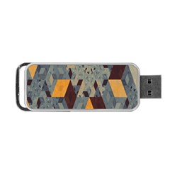 Apophysis Isometric Tessellation Orange Cube Fractal Triangle Portable Usb Flash (one Side) by Mariart
