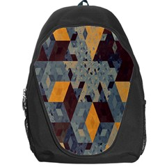 Apophysis Isometric Tessellation Orange Cube Fractal Triangle Backpack Bag by Mariart