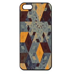 Apophysis Isometric Tessellation Orange Cube Fractal Triangle Apple Iphone 5 Seamless Case (black) by Mariart