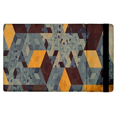 Apophysis Isometric Tessellation Orange Cube Fractal Triangle Apple Ipad 2 Flip Case by Mariart