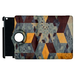 Apophysis Isometric Tessellation Orange Cube Fractal Triangle Apple Ipad 2 Flip 360 Case by Mariart