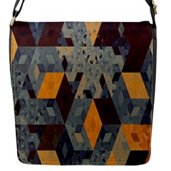 Apophysis Isometric Tessellation Orange Cube Fractal Triangle Flap Messenger Bag (s) by Mariart