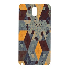 Apophysis Isometric Tessellation Orange Cube Fractal Triangle Samsung Galaxy Note 3 N9005 Hardshell Back Case by Mariart