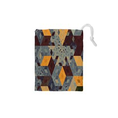 Apophysis Isometric Tessellation Orange Cube Fractal Triangle Drawstring Pouches (xs)  by Mariart