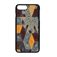 Apophysis Isometric Tessellation Orange Cube Fractal Triangle Apple Iphone 7 Plus Seamless Case (black) by Mariart