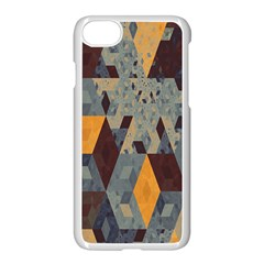 Apophysis Isometric Tessellation Orange Cube Fractal Triangle Apple Iphone 7 Seamless Case (white) by Mariart