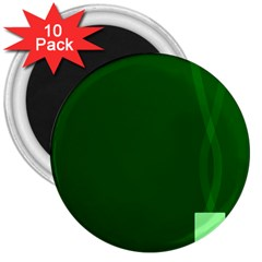 Mug Green Hot Tea Coffe 3  Magnets (10 Pack)  by Mariart