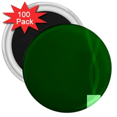 Mug Green Hot Tea Coffe 3  Magnets (100 Pack) by Mariart