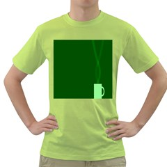 Mug Green Hot Tea Coffe Green T Shirt by Mariart