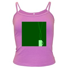 Mug Green Hot Tea Coffe Dark Spaghetti Tank by Mariart