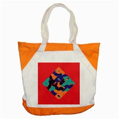 Plaid Red Sign Orange Blue Accent Tote Bag by Mariart