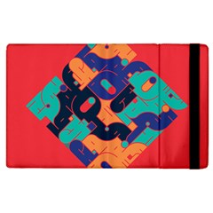 Plaid Red Sign Orange Blue Apple Ipad 2 Flip Case by Mariart