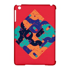 Plaid Red Sign Orange Blue Apple Ipad Mini Hardshell Case (compatible With Smart Cover) by Mariart