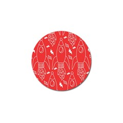 Moon Red Rocket Space Golf Ball Marker (4 Pack) by Mariart