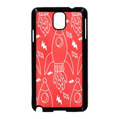 Moon Red Rocket Space Samsung Galaxy Note 3 Neo Hardshell Case (black) by Mariart