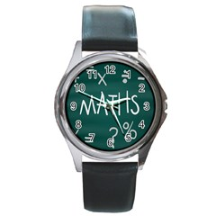 Maths School Multiplication Additional Shares Round Metal Watch by Mariart