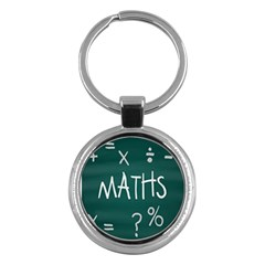 Maths School Multiplication Additional Shares Key Chains (round)  by Mariart