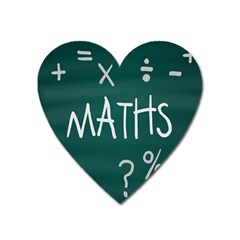 Maths School Multiplication Additional Shares Heart Magnet by Mariart