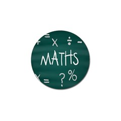 Maths School Multiplication Additional Shares Golf Ball Marker by Mariart