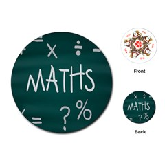 Maths School Multiplication Additional Shares Playing Cards (round)  by Mariart