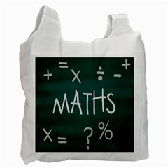 Maths School Multiplication Additional Shares Recycle Bag (one Side) by Mariart