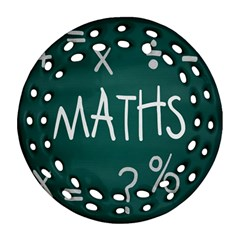Maths School Multiplication Additional Shares Round Filigree Ornament (two Sides) by Mariart